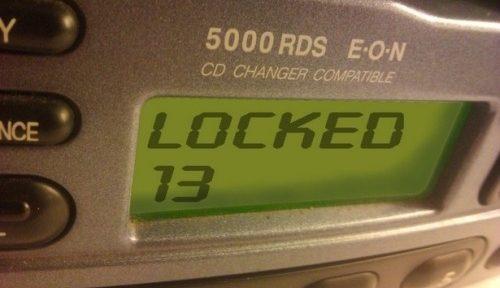 Estereo Ford con Mensaje Lock 10 o Lock 13